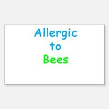 Allergic To Bees Decal