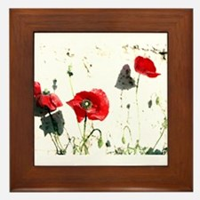 Poppies Design Framed Tile