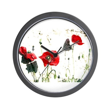 Poppies Design Wall Clock