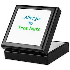 Allergic To Tree Nuts Keepsake Box