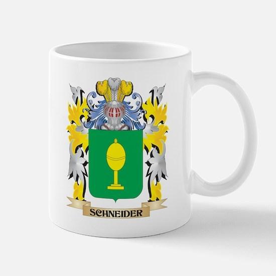 Schneider Family Crest - Coat of Arms Mugs