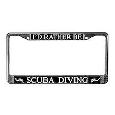 Black I'd Rather Be Scuba Diving Frame