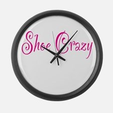 Shoe Crazy Large Wall Clock
