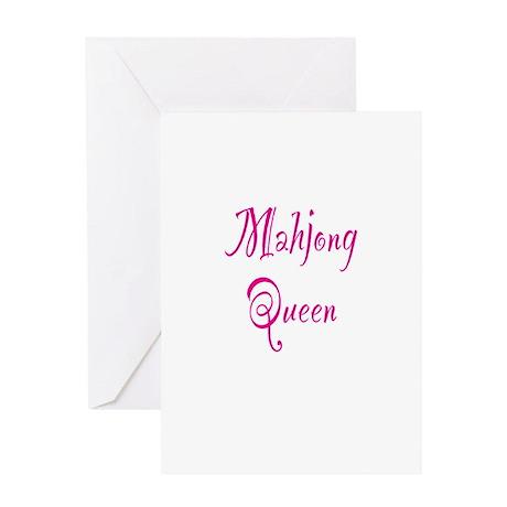 Mahjong Queen Greeting Card