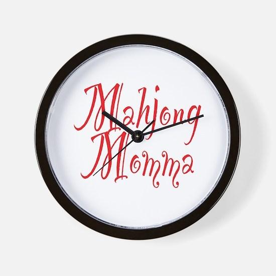 Mahjong Momma Wall Clock