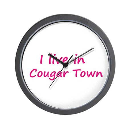 I live in Cougar Town Wall Clock