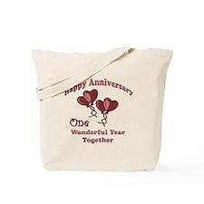 Cute 1st wedding anniversary Tote Bag