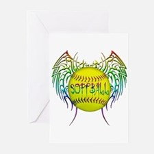 Tribal softball Greeting Cards (Pk of 10)