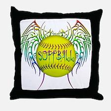 Tribal softball Throw Pillow