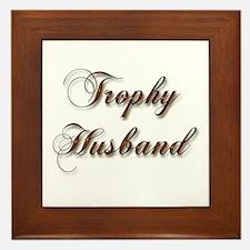 Funny Trophy husband Framed Tile
