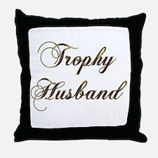 Cute Trophy husband Throw Pillow