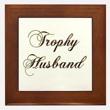Unique Trophy husband Framed Tile