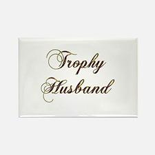 Trophy husband gold Magnets
