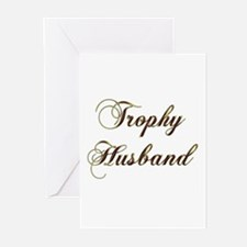 Unique Trophy husband Greeting Cards (Pk of 10)