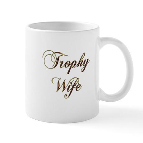 trophy wife gold Mugs