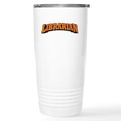 Librarian (Orange) Stainless Steel Travel Mug