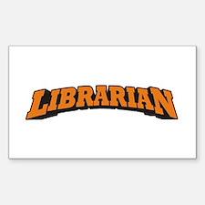 Librarian (Orange) Decal