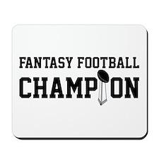 Fantasy Football Champion w/ Trophy Mousepad