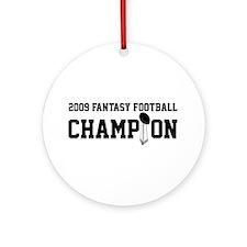 2009 Fantasy Football Champion w/ Trophy Ornament