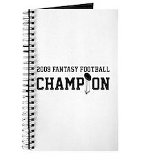 2009 Fantasy Football Champion w/ Trophy Journal