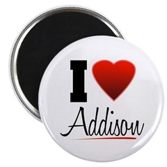 I Heart Addison Magnet