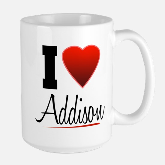 I Heart Addison Large Mug
