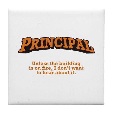Principal / Fire Tile Coaster