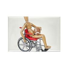 Football Wheelchair Rectangle Magnet
