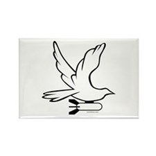 DOVE PEACE BOMBER Rectangle Magnet