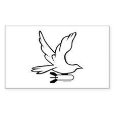 DOVE PEACE BOMBER Decal