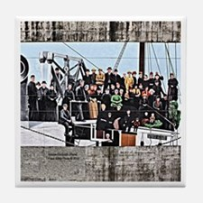 JUNEAU HARBOR MURAL Tile Coaster