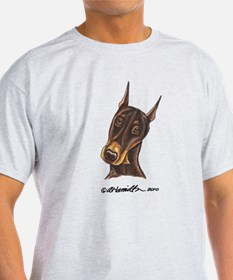 Red Rust Doberman Pinscher T-Shirt