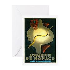 Aquarium De Monaco Fish Greeting Card