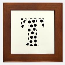 The Letter 'T' Framed Tile