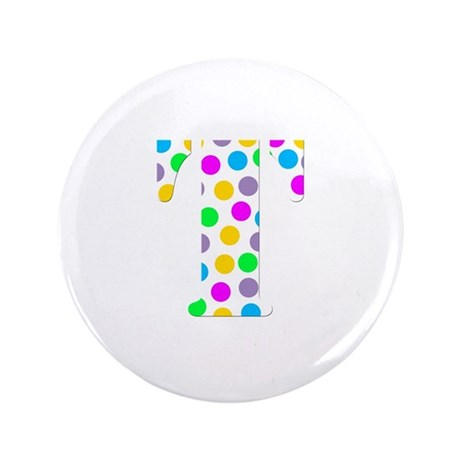 "The Letter 'T' 3.5"" Button (100 pack)"