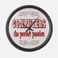 Computers Large Wall Clock