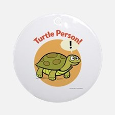 Turtle Person Ornament (Round)
