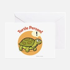 Turtle Person Greeting Card