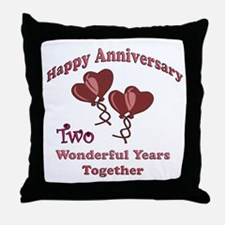 Funny 2nd wedding anniversary Throw Pillow