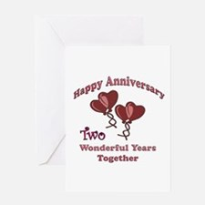 two hearts two Greeting Cards