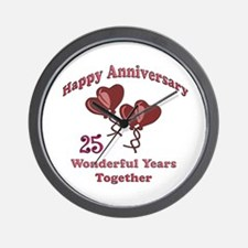 Cool 25 years Wall Clock