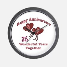 35th wedding anniversary Wall Clock