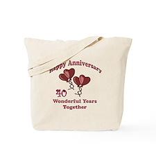 Cute 40 year anniversary Tote Bag
