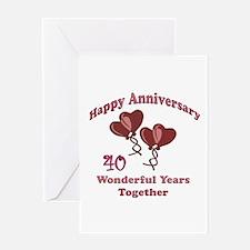 Funny 40th wedding anniversary Greeting Card