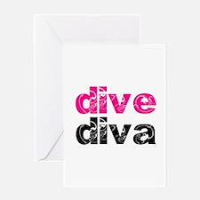 dive diva Greeting Card