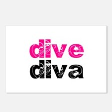 dive diva Postcards (Package of 8)