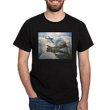 B-17 Shack Rabbit Black T-Shirt