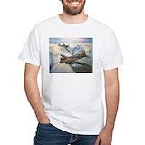 B 17 Mens White T-shirts