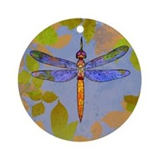 Shining Dragonfly Ornament (Round)