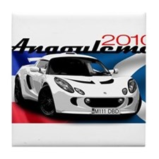 Exige-White-2010 Tile Coaster